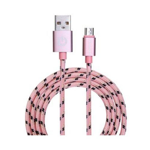Καλώδιο USB Garbot Grab&Go 1 m USB A Micro-USB B Ροζ (C-05-10196) (GARC-05-10196)