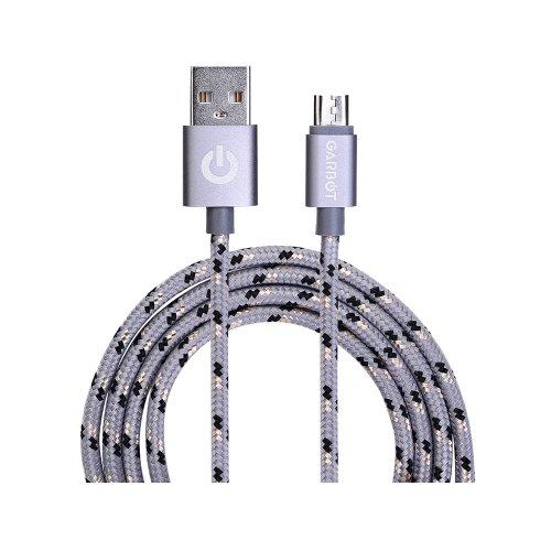 Καλώδιο USB Garbot Grab&Go 1 m USB A Micro-USB B Ασημί (C-05-10195) (GARC-05-10195)