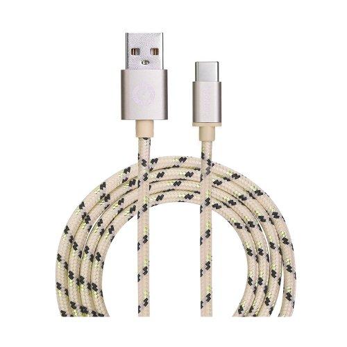 Καλώδιο USB Garbot Grab&Go 1 m USB A USB C Χρυσό (C-05-10191) (GARC-05-10191)