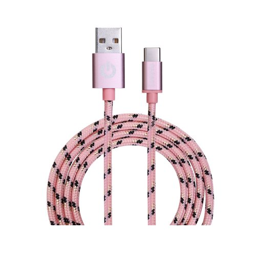 Καλώδιο USB Garbot Grab&Go 1 m USB A USB C Ροζ (C-05-10193) (GARC-05-10193)