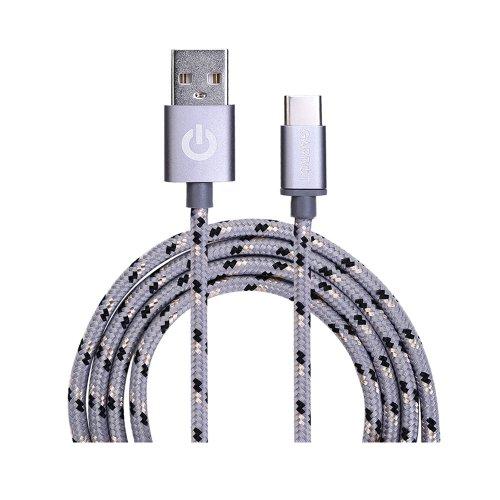 Καλώδιο USB Garbot Grab&Go 1 m USB A USB C Ασημί (C-05-10192) (GARC-05-10192) - 1