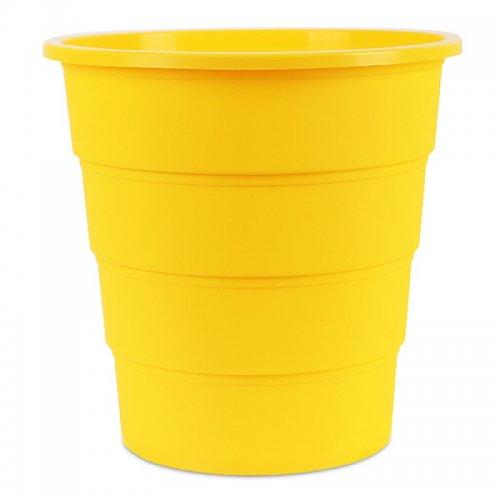 Κάδος Αχρήστων Office Products, Τύπος Κουβά, 16L Κίτρινο - 1