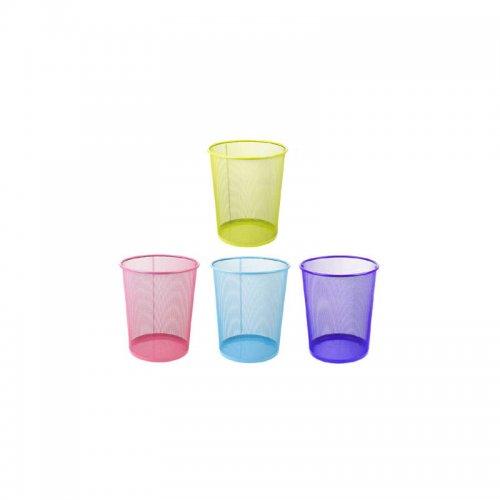 Καλάθι Αχρήστων Μεταλλικό Χρωματιστό 081509 Ματζέντα - 2