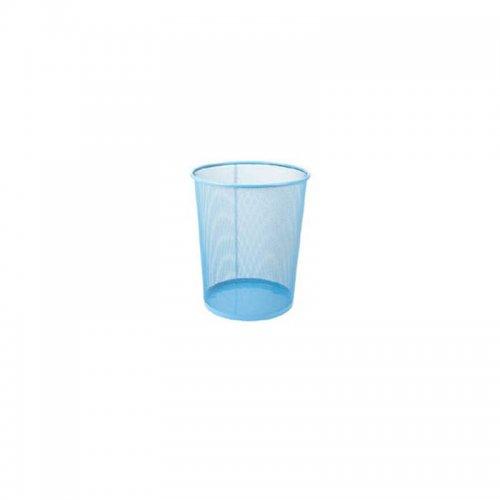 Καλάθι Αχρήστων Μεταλλικό Χρωματιστό 081509 Μπλε