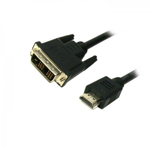Καλώδιο HDMI/DVI MediaRange Επιχρυσωμένο (24+1 Pin) 2.0M Μαύρο (MRCS118)