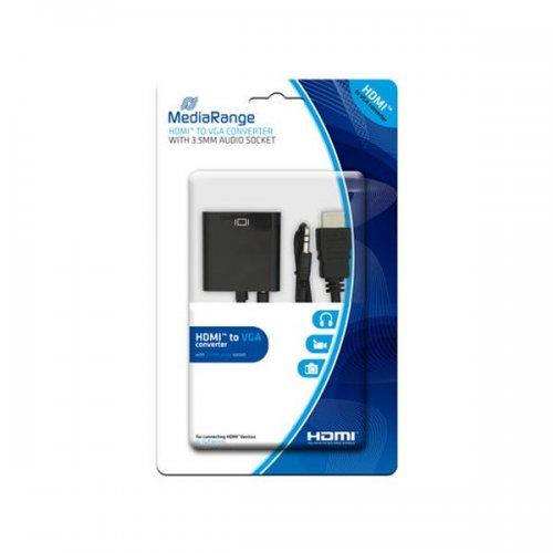 Καλώδιο Μετατροπέας Ήχου MediaRange HDMI/VGA με 3.5mm. audio socket Μαύρο (MRCS167)