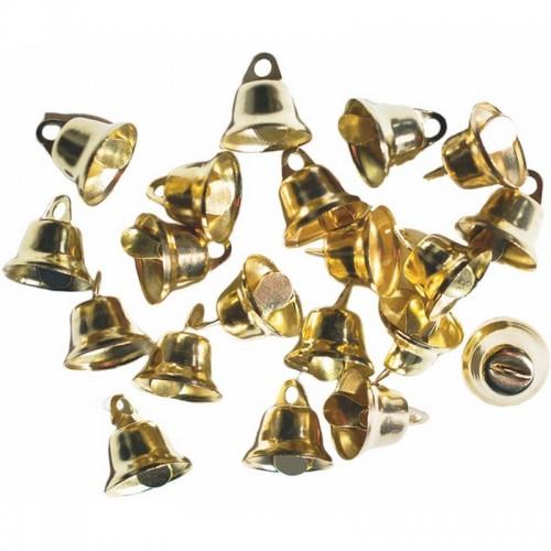 Καμπανάκια Junior Art School Χρυσά 14.5mm 20τμχ 137701 - 1