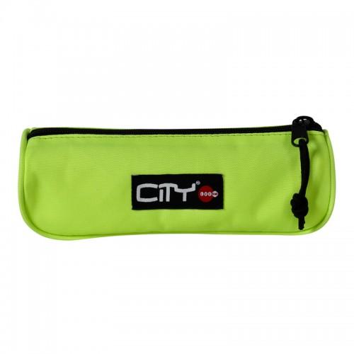 Κασετίνα Βαρελάκι City Fluo Eclair Φωσφοριζέ Κίτρινο CB13999 - 1