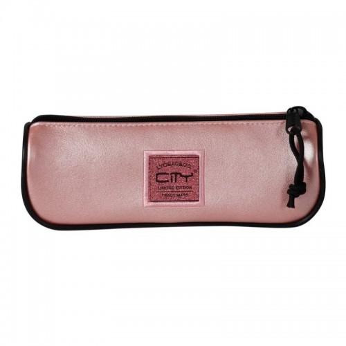 Κασετίνα Βαρελάκι City Leatherlike Ροζ CL17999 - 1