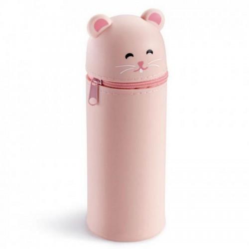 Kασετίνα Βαρελάκι Με Σιλικόνη Miquelrius My Little Pet Ροζ 16x6cm 19034 - 1