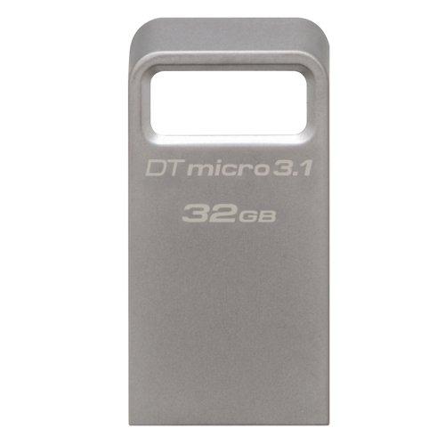 USB 3.1 Flash Drive Kingston DataTraveler Micro 32GB Ασημί (DTMC3/32GB) (KINDTMC3/32GB) - 2
