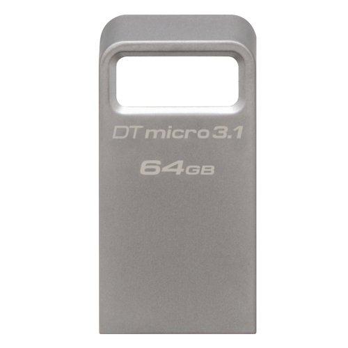 USB 3.1 Flash Drive Kingston DataTraveler Micro 64GB Ασημί (DTMC3/64GB) (KINDTMC3/64GB0) - 4
