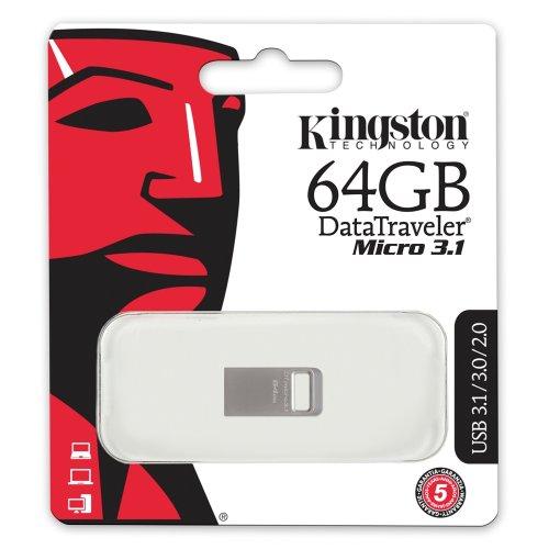 USB 3.1 Flash Drive Kingston DataTraveler Micro 64GB Ασημί (DTMC3/64GB) (KINDTMC3/64GB0) - 3