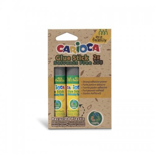 Κόλλα Carioca Glue Stick Solvents Free 20gr (2τμχ)