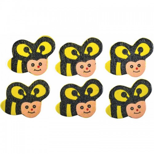 Ξύλινες Μέλισσες Junior Art School 6τμχ 137211 - 1