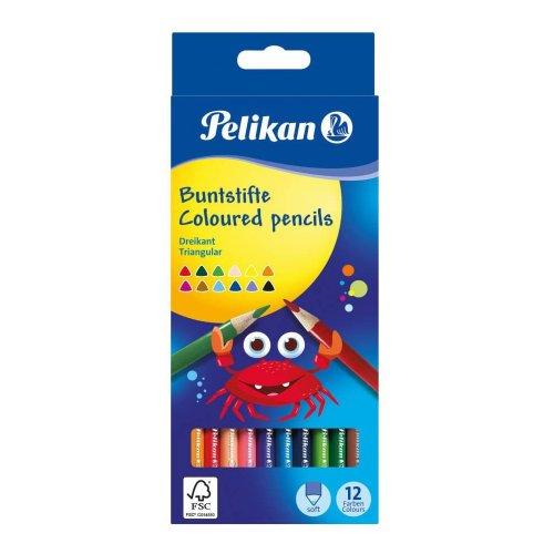 Ξυλομπογιές Pelikan Τριγωνικές 12 Χρωμάτων