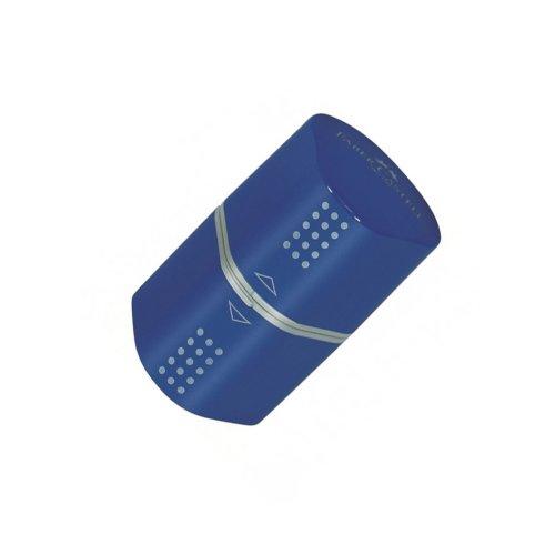 Ξύστρα Faber-Castell Grip Trio Μπλε/ Κόκκινο - 2