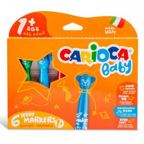 Μαρκαδόροι Carioca Baby Tendy 6 χρωμάτων 1+