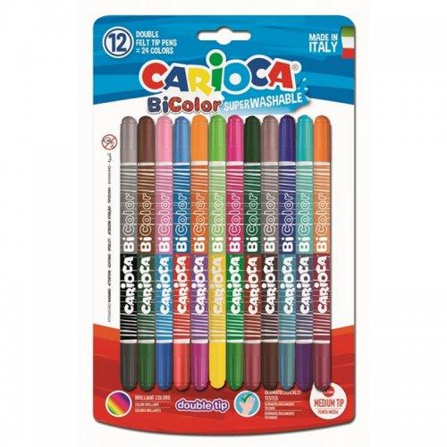 Μαρκαδόροι Carioca Bicolor 12 Χρώματα
