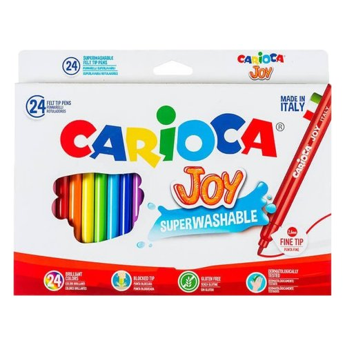 Μαρκαδόροι Carioca Joy 24 Χρωμάτων Λεπτοί - 1