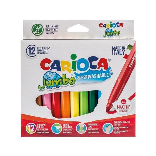 Μαρκαδόροι Carioca Jumbo 24 Χρωμάτων Χονδροί - 1