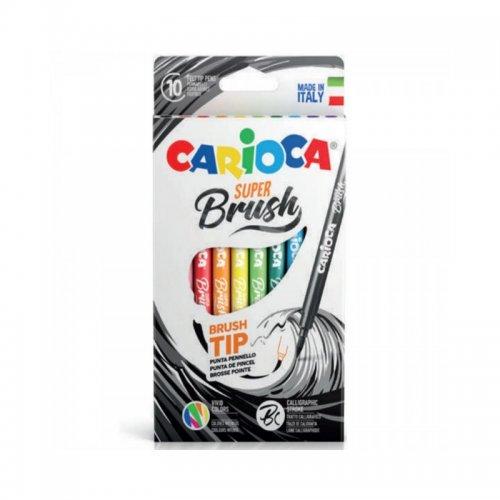 Μαρκαδόροι Carioca Super Brush 10 τεμ. 42937