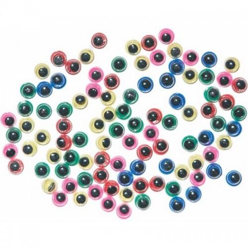 Μικρά Μάτια Junior Art School Σε Διάφορα Χρώματα 5mm 100τμχ 137090 - 1