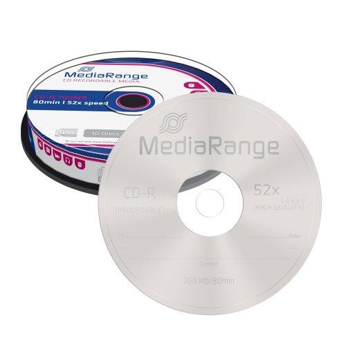 CD-R 80 700MB 52x MediaRange 10 Τεμ. (MR214)