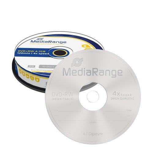 DVD+RW 120 4.7GB 4x Rewritable MediaRange 10  Τεμ. (MR451) - 1