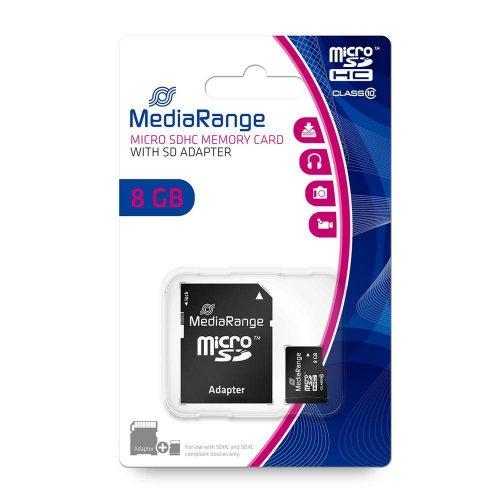 Κάρτα Μνήμης MediaRange Micro SDHC Class 10 With SD Adaptor 8 GB (High Capacity) (MR957) - 2