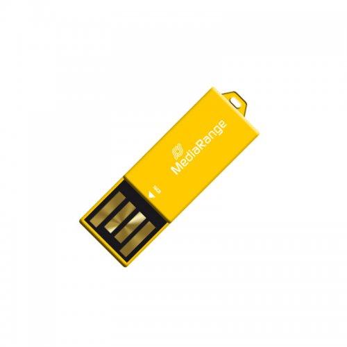 USB 2.0 Nano Flash Drive Paper-clip stick MediaRange 16GB Κίτρινο (MR976)
