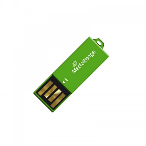 USB 2.0 Nano Flash Drive Paper-clip stick MediaRange 32GB Πράσινο (MR977) - 1