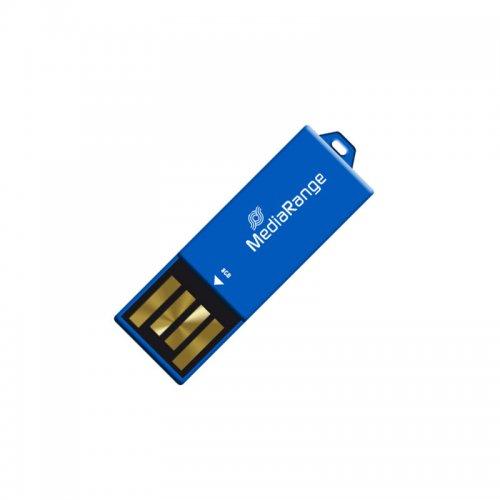 USB 2.0 Nano Flash Drive Paper-clip stick MediaRange 8GB Μπλε (MR975)