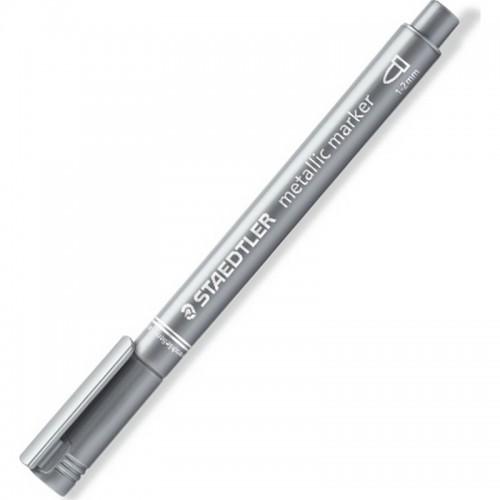 Μεταλλικός Μαρκαδόρος Λαδιού Staedtler Ασημί 1-2mm 8323-81