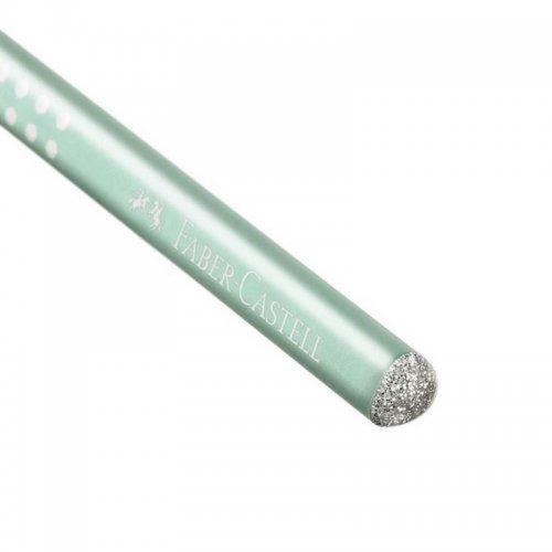 Μολύβι Faber-Castell Grip Sparkle Μέντα - 2