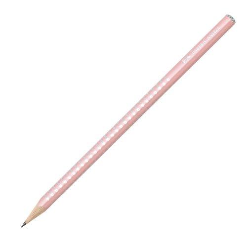 Μολύβι Faber-Castell Grip Sparkle Παστέλ Ροζ