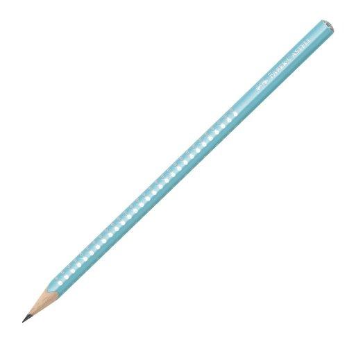 Μολύβι Faber-Castell Grip Sparkle Τιρκουάζ