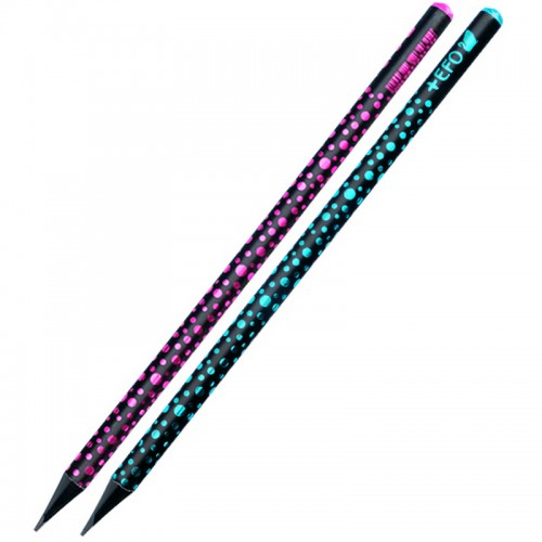 Μολύβι Ξύλινο +Efo Crystal Black Wood Σε Διάφορα Χρώματα