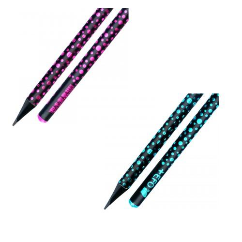 Μολύβι Ξύλινο +Efo Crystal Black Wood Σε Διάφορα Χρώματα - 2