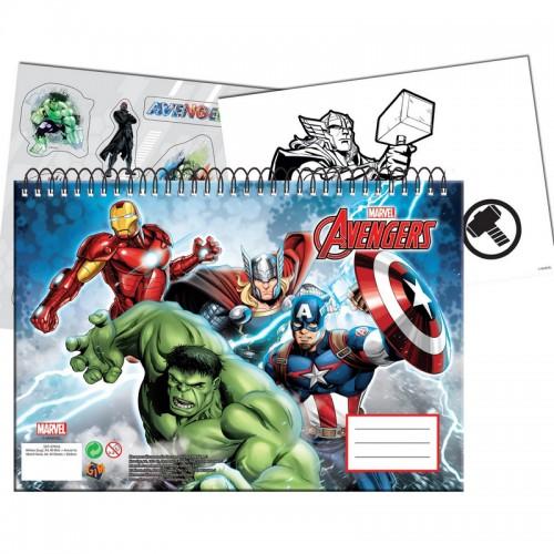 Μπλοκ Ζωγραφικής Avengers Gimsa 337-28416