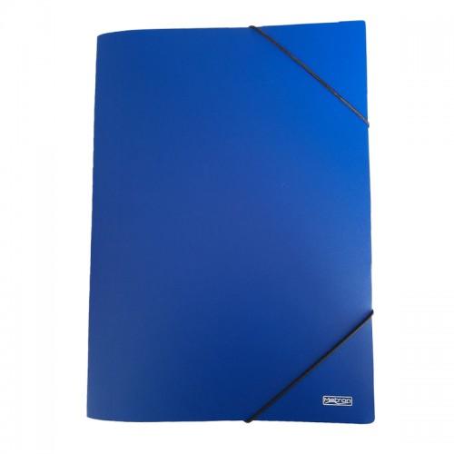 Ντοσιέ Με Λάστιχο PP Metron Μπλε 05102 (25x35cm)