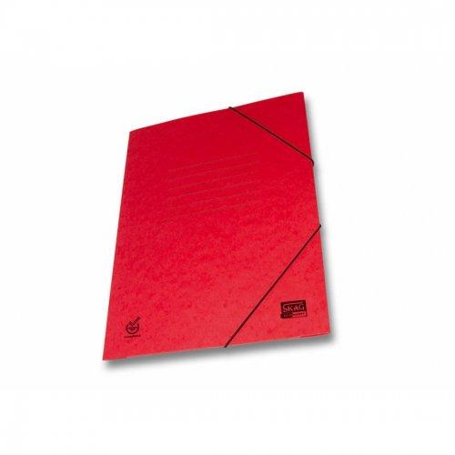 Ντοσιέ Με Λάστιχο Prespan Skag Economy Κόκκινο (25x35)