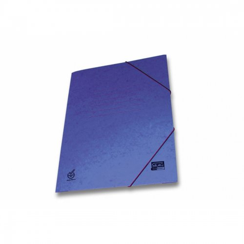 Ντοσιέ Με Λάστιχο Prespan Skag Economy Μπλε  (25x35)