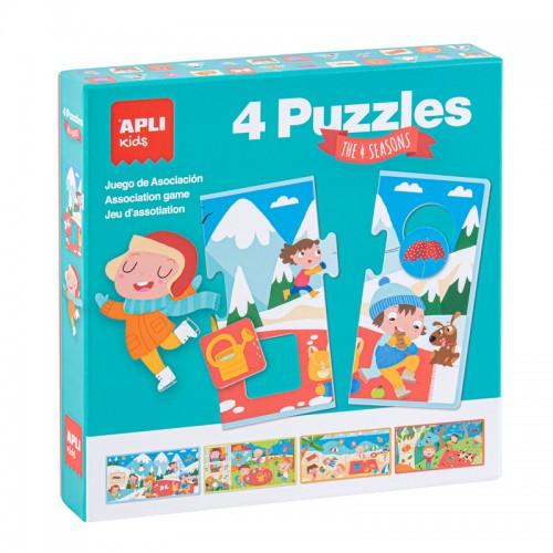 Παιχνίδι 4 Puzzles Apli Kids The 4 Seasons