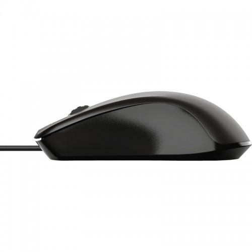 Ποντίκι Ενσύρματο Trust Carve Μαύρο 23733 - 4