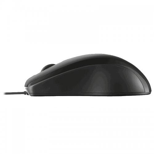 Ποντίκι Ενσύρματο Trust Carve Μαύρο 15862-05 - 2