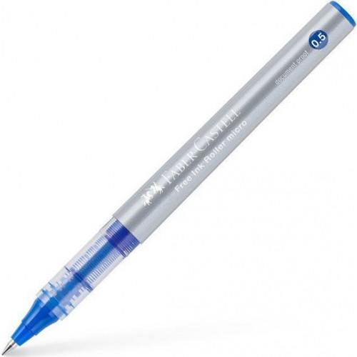 Στυλό Faber Castell Free Ink Roller Micro Μπλε 0.5mm - 1