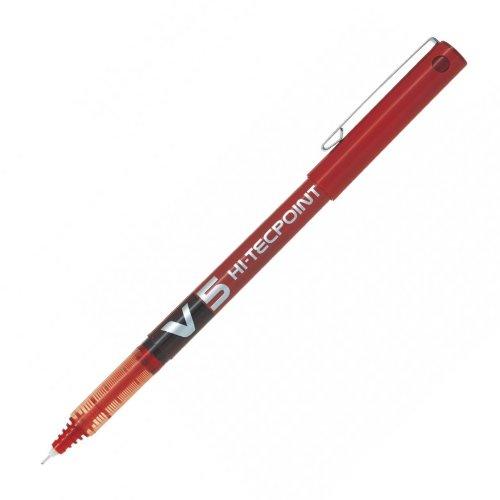 Στυλό Υγρής Μελάνης Pilot V5 HI-TECHPOINT 0,5mm Red
