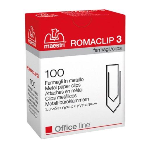Συνδετήρες Μεταλλικοί Maestri ROMACLIP 3 100τμχ
