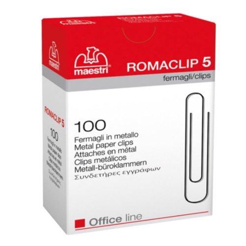 Συνδετήρες Μεταλλικοί Maestri ROMACLIP 5 100τμχ - 1